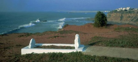 ca. 1980-1997, Larache, Morocco --- Jean Genet's Grave on the Coast --- Image by © K.M. Westermann/CORBIS